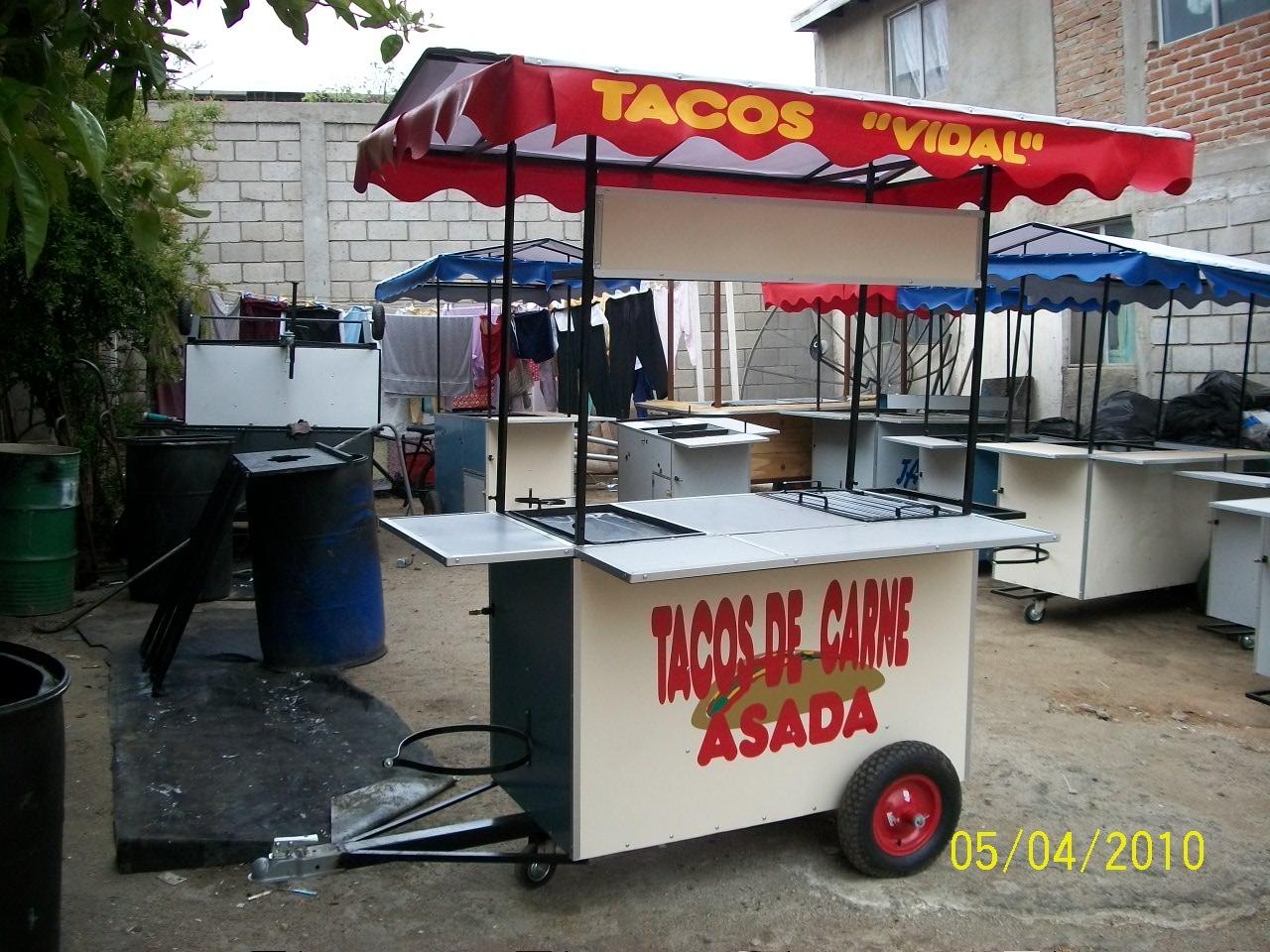 carretas para comida. Tacos de Asada. Oliver Food Truck
